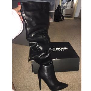 Thigh high fashionnova heeled boots